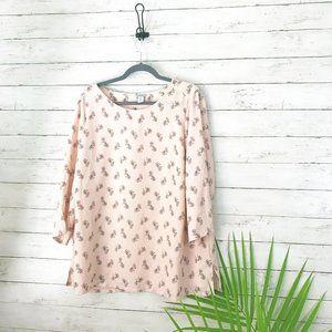 Paraphrase Blush Pink Bicycle Print Tee - Size 1X